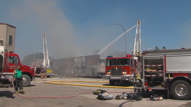 Fire guts much of downtown Exira