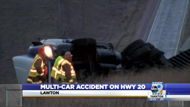 Multi-car accident on highway 20