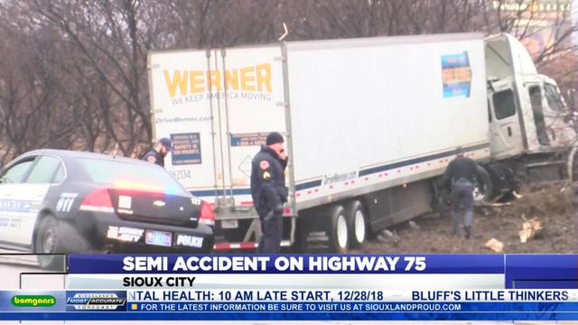 Semi Accident On Highway 75