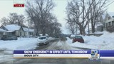 Snow emergency continues in Sioux City