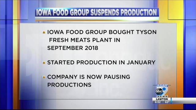 Cherokee Food Plant Suspends Production